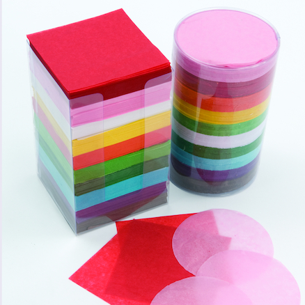 Tissue Paper Stack Assorted 10cm 4600pk  large