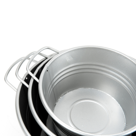 Metal Cans and Tubs 6pcs  large