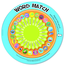 Word Match Spelling Spinner Game  medium