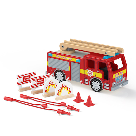 Small World Wooden Fire Engine  large