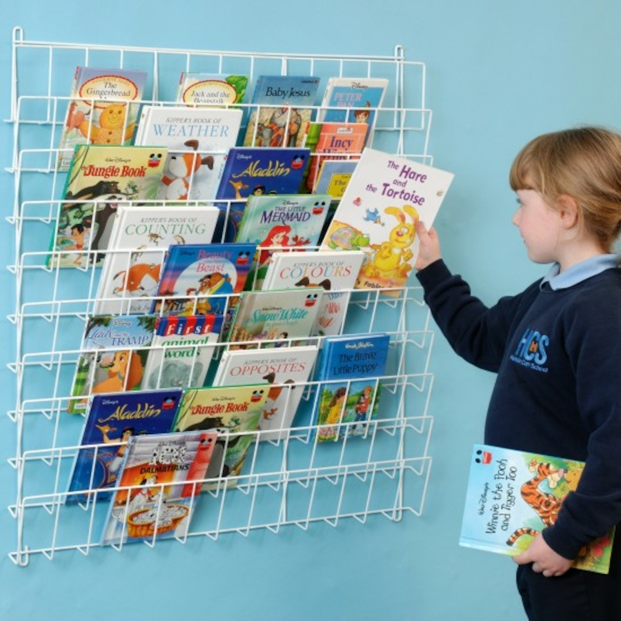 Buy Square Wall Hung Book Rack L86 x H86cm | TTS