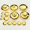 Mirrored Stacking Pebbles Gold 20pk  small