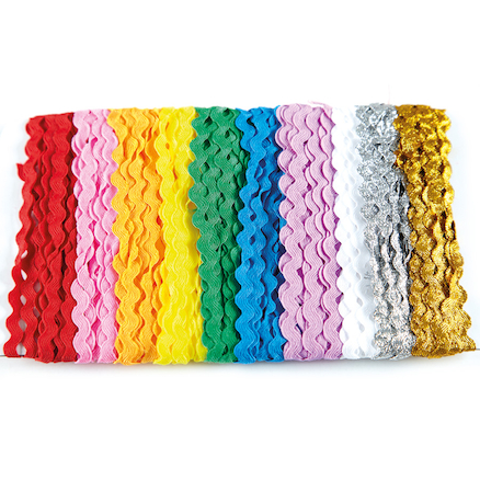 Assorted Rick Rack Craft Ribbon 10pk  large