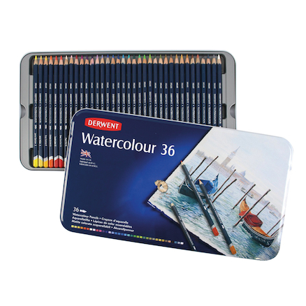 Derwent Watercolour Tin Set of 36  large