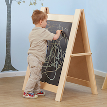 Single Toddler Wooden Chalkboard Easel  medium