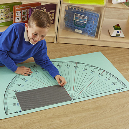 Giant Colourful Protractor Playmat  large