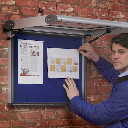 Outdoor Rainproof Lockable Noticeboards  large