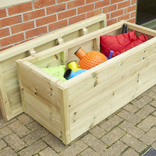 Large Outdoor Wooden Storage Chest  medium