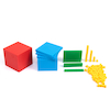 Plastic Interlocking Base Ten Set 121pc  small
