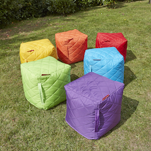 Quilted Cube Beanbags 6pk  medium