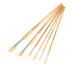 Long Handled Round Hog Hair Paint Brushes 60pk  small