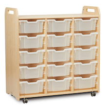 PlayScapes Unit 1080mm High with 15 Deep Trays Clear  medium