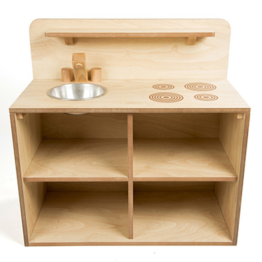 Buy toddler wooden role play kitchen unit tts for Wooden kitchen