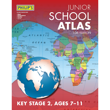 Philip\'s Junior School Atlas KS2  large