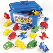 Plastic Colourful Chunky Vehicle Set 36pcs  medium