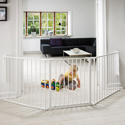 2 in 1 Metal Folding Playpen and Room Divider  large