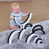 Black \x26 White Wooden Nesting Arches pk10  small