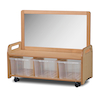 Millhouse Mobile Open Shelf with Mirror  small
