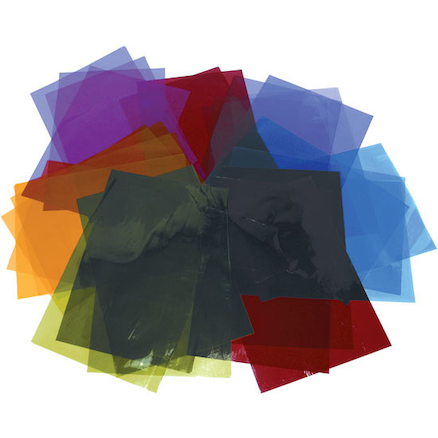 A4 Coloured Cellophane Sheets Assorted 48pk  large