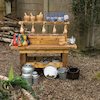 Outdoor Wooden Messy Concoctions Bench  small