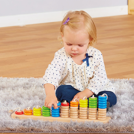 Wooden Rope Abacus Counting Toy  large