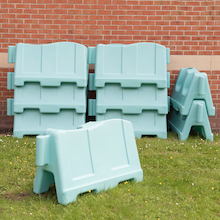 School Playground Zone Barriers 15pk  medium