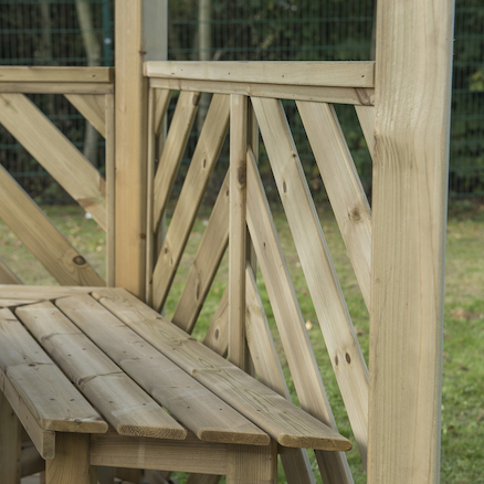 Six Sided Wooden Gazebo   large