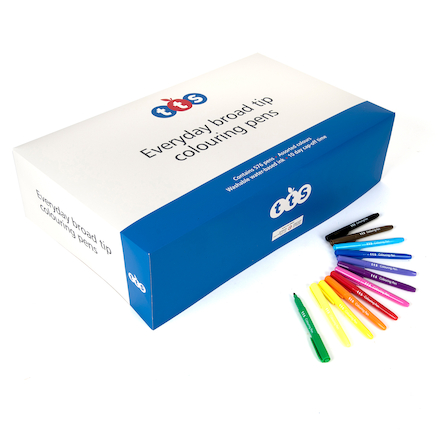 TTS Everyday Colouring Fibre Tip Pens Assorted  large
