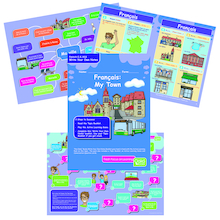 KS3 French My Town Revision Activity Cards 10pk  medium