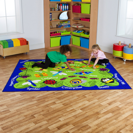 Back to Nature Minibeasts Indoor Rug  large