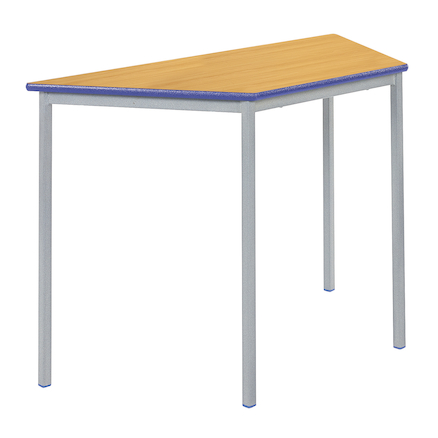 Fully Welded Tables Coloured Edge Trapezium  large