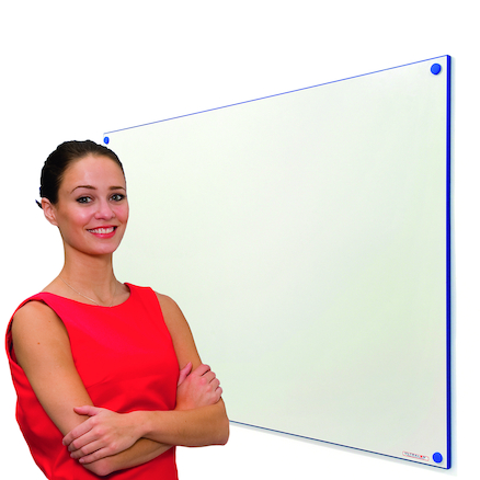 Coloured Edge Wall Mounted Whiteboard  large
