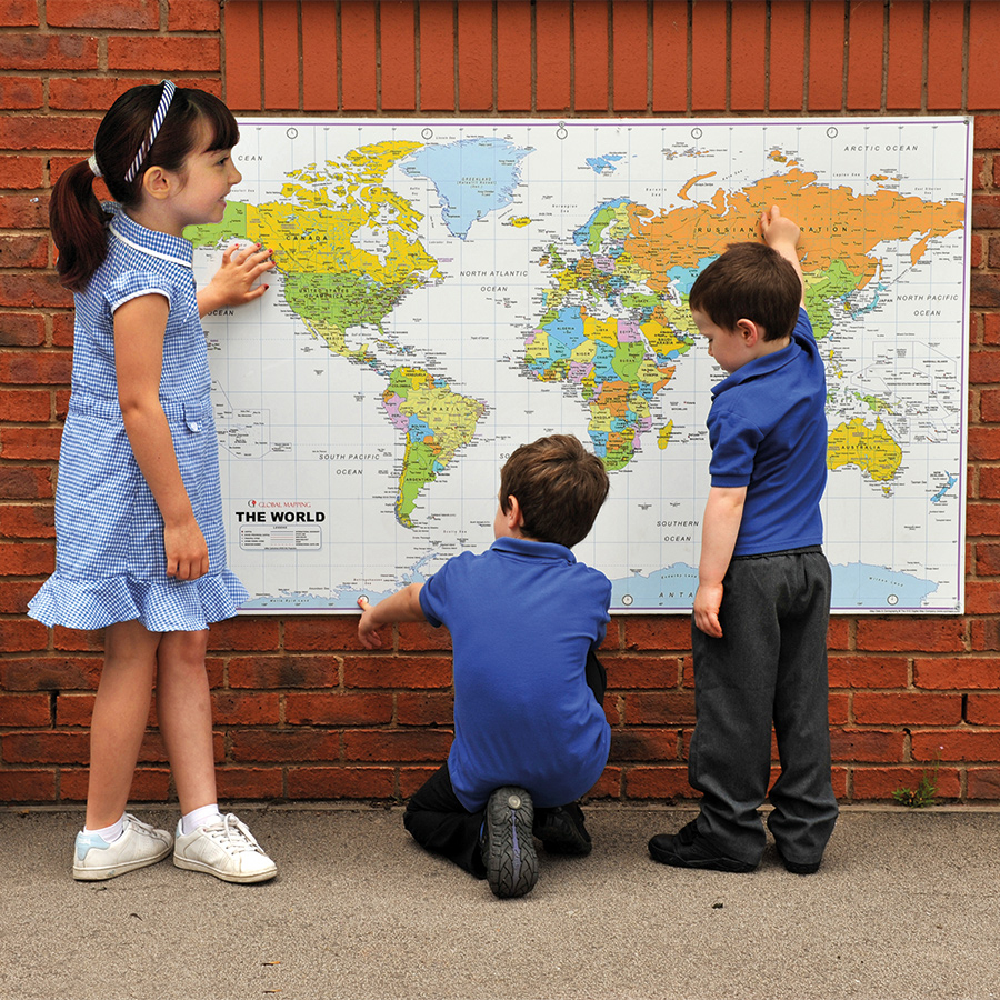 Buy Outdoor World Map Playground Signs Tts