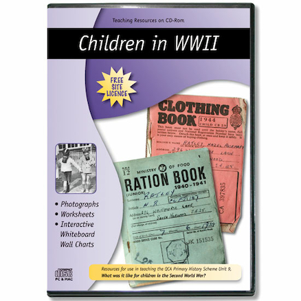Children in WW 2Teaching Resources CD ROM  large