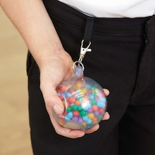 Rainbow Fidget Ball Keyring  medium