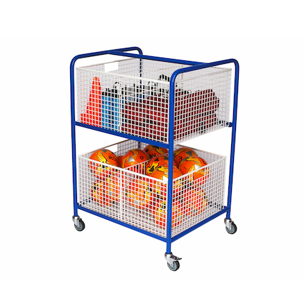 Wire Basket Equipment Trolley L105 x H76 x W64cm  large
