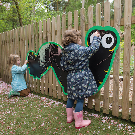 Giant Mark Making Chalkboard Caterpillar  large