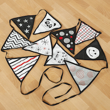 Black And White Bunting  medium