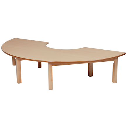 Semi Circle Wooden Table  large