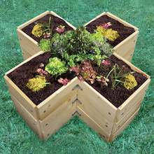 Cross Shaped Grow Bed  medium