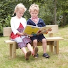 Mini Outdoor Wooden Buddy Bench  small