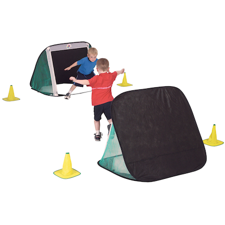 Pop Up Football Goals and Bag 115 x 85cms 2pk  large