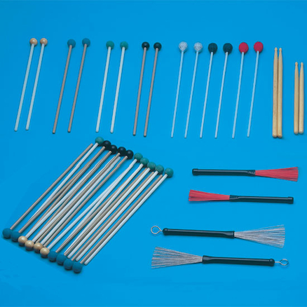 Assorted Instrument Beaters 10 Pairs  large