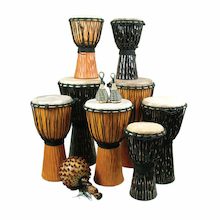 Multicultural Djembe Drum and Shakers 12pk  medium