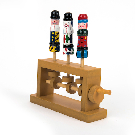 Mechanical Clown Wooden Toy  large