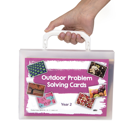 Outdoor Maths Problem Solving Cards A5  large