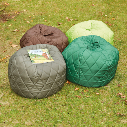 Outdoor Quilted Beanbags 4pk  large
