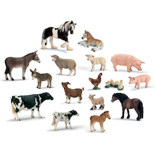 Detailed Farm Animals and their Young 14pcs  medium