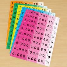 Colour Coordinated Decimal Cards 30pk  medium