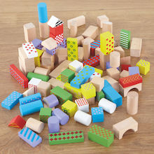 Wooden Building Blocks 100pcs  medium